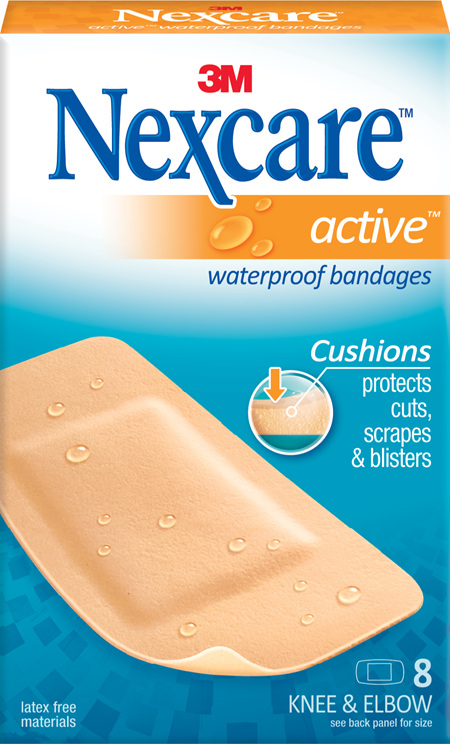 Nexcare Active Knee/Elbow W/Proof 8