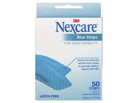 Nexcare Blue Strips 50