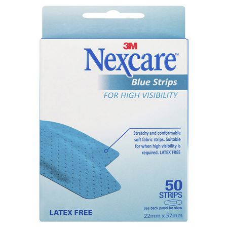 Nexcare Blue Strips 50