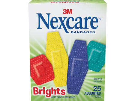 Nexcare Brights Soft Fabric Bandages Assorted 25s