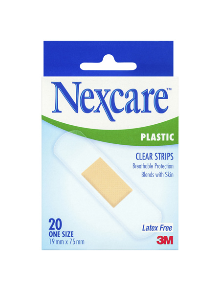 Nexcare Clear Plastic Strips 20