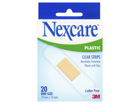 Nexcare Clear Plastic Strips 20s