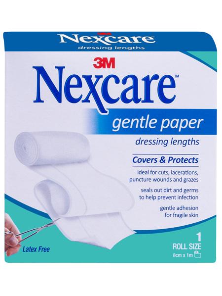 Nexcare Gentle Paper Dressing 8Cm X 1M