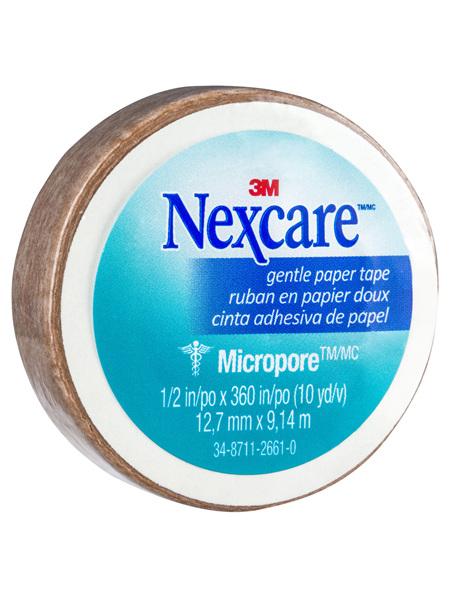 Nexcare Gentle Paper Tape Tan 12.5Mm X 9.1M