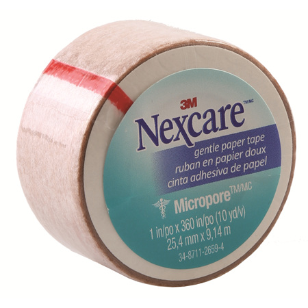Nexcare Gentle Paper Tape Tan 25Mm X 9.1M