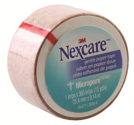 Nexcare Gentle Paper Tape Tan 25Mm X 9.1M