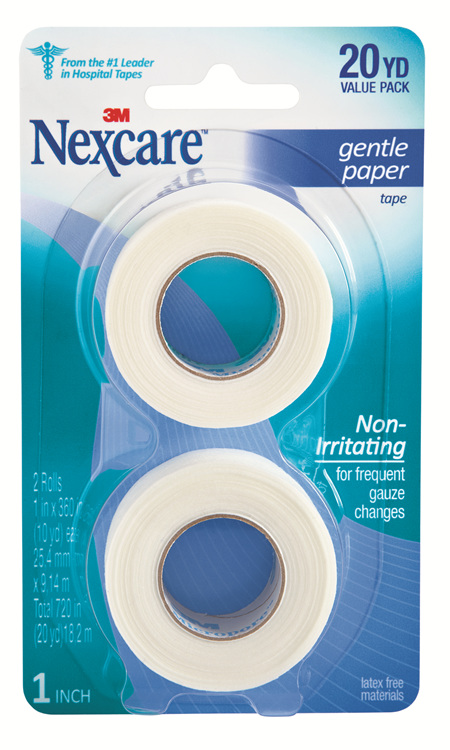 Nexcare Gentle Paper Tape White 2/Pack 25 Mm X 9.1M