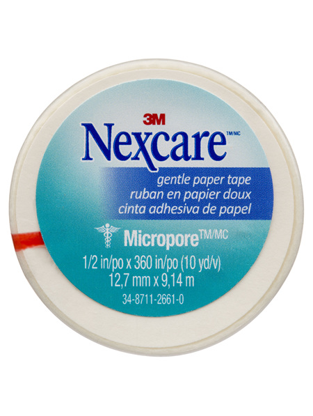 Nexcare Gentle Paper Tape Wht 12.5Mm X 9.1M