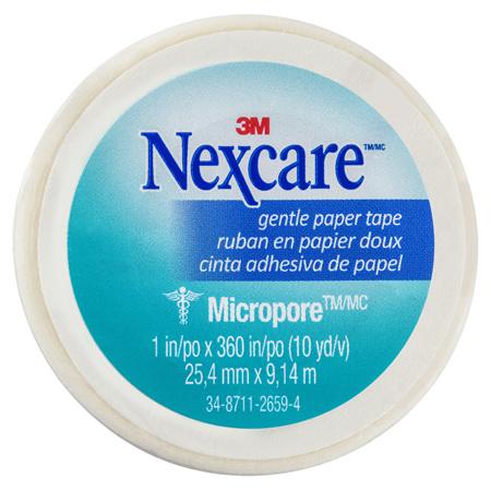 Nexcare Gentle Paper Tape Wht 25Mm X 9.1M