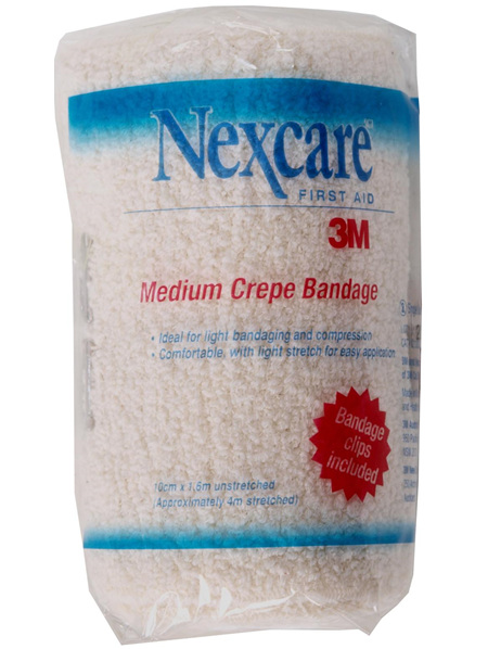 Nexcare Medium Crepe Banadages 10 Cm X 1.6 M