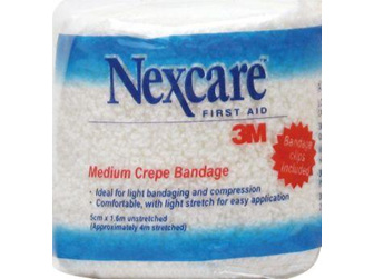 Nexcare Medium Crepe Bandages 5 Cm X 1.6 M