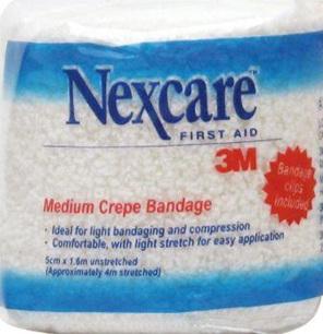 Nexcare Medium Crepe Bandages 5 Cm X 1.6 M