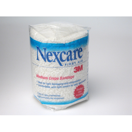 Nexcare Medium Crepe Bandages 7.5 Cm X 1.6 M