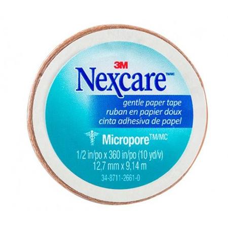 NEXCARE MICROPORE TAN TAPE 12.5MMX9.1M