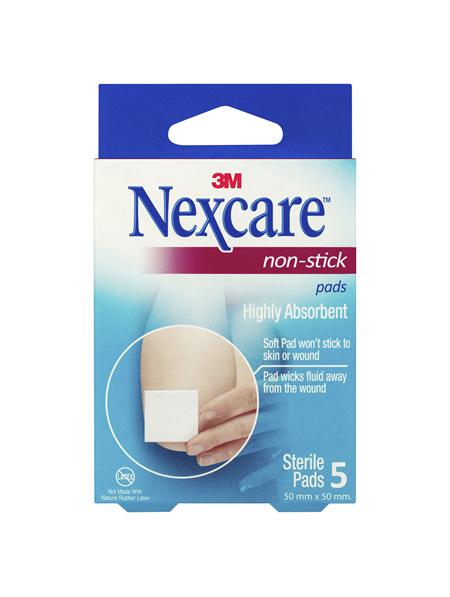 Nexcare Non Stick Pad 50 Mm X 50 Mm 5 Pk