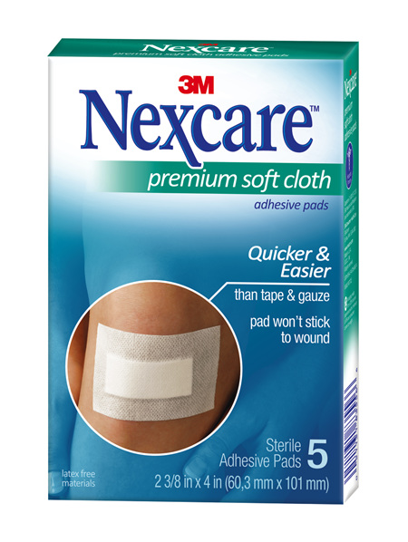 Nexcare Premium Soft Cloth Adhes Pad 5