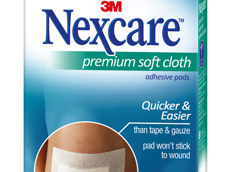 Nexcare Premium Soft Cloth Adhes Pad 5
