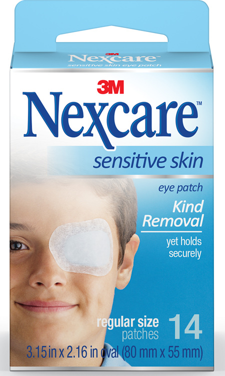 Nexcare Sensitive Skin Eye Patch Reg 14