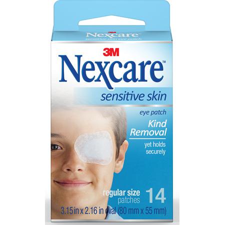 Nexcare Sensitive Skin Eye Patch Reg 14