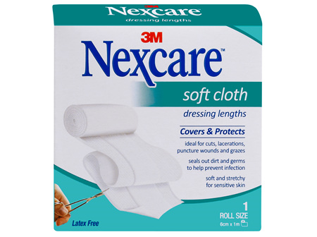 Nexcare Soft Cloth Dres 6 Cm X 1 M