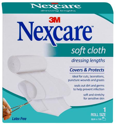 Nexcare Soft Cloth Dres 8 Cm X 1 M