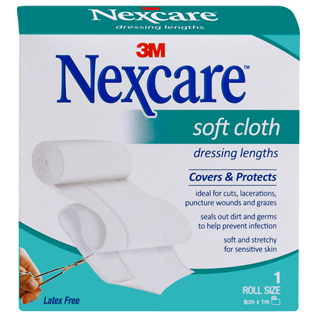 Nexcare Soft Cloth Dres 8 Cm X 1 M