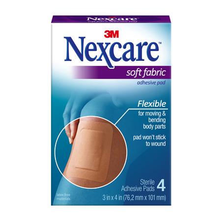 Nexcare Soft Fabric Adhes Gauze Pad 4