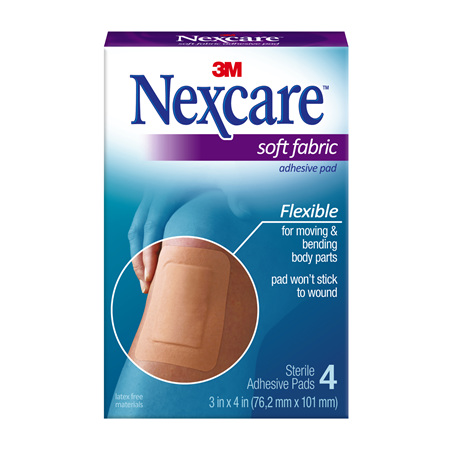 Nexcare Soft Fabric Adhes Gauze Pad 4