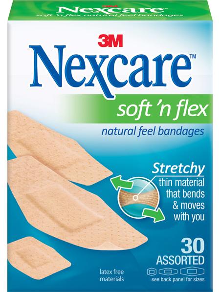 Nexcare Soft N Flex 30 Asstd