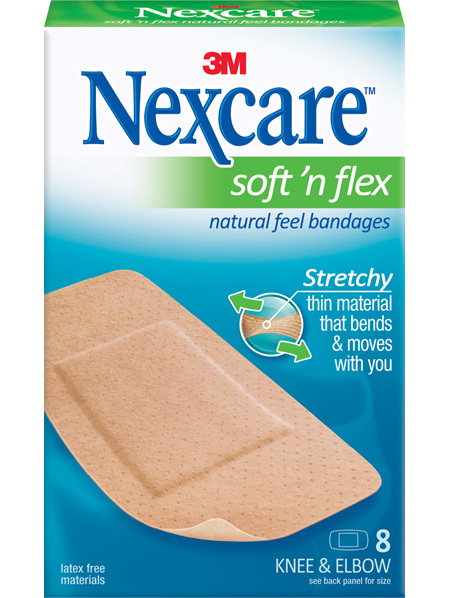 Nexcare Soft N Flex 8 Knee & Elbow