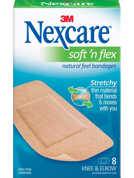 Nexcare Soft N Flex 8 Knee & Elbow