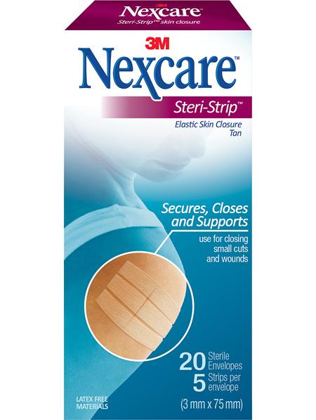 Nexcare Steri-Strip Tan Elas (3X75Mm) 20/Box