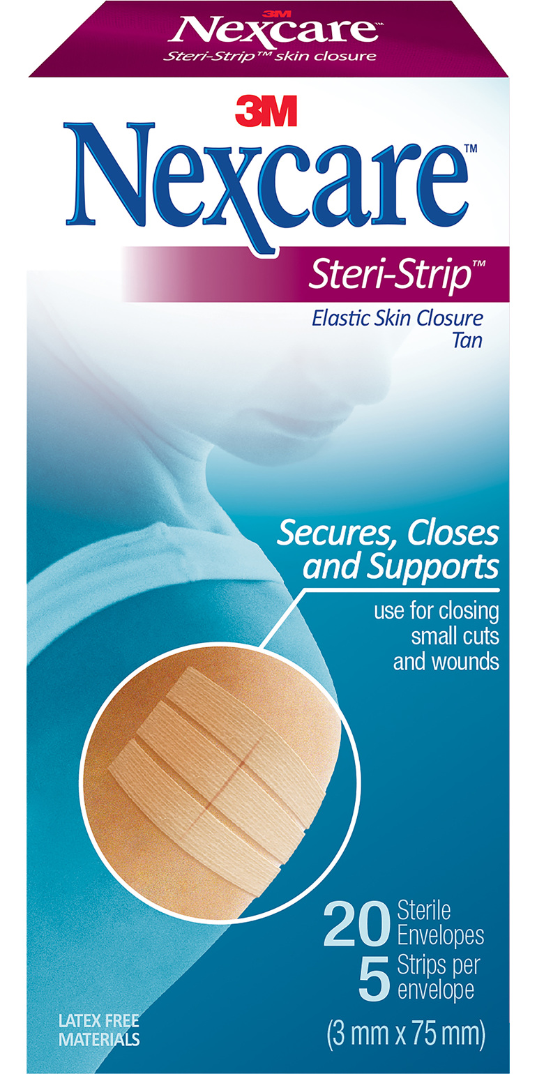 Nexcare Steri-Strip Tan Elas (3X75Mm) 20/Box