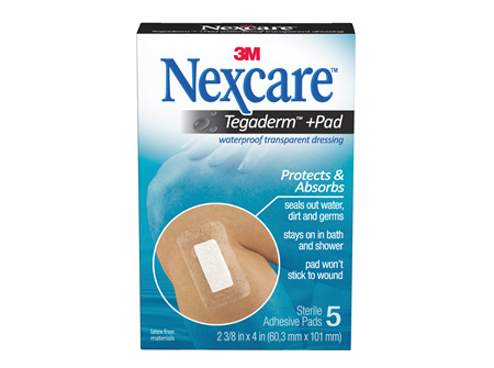 Nexcare Tegaderm+ Pad W/P Trans Dres 5/Box