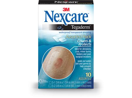 Nexcare Tegaderm W/Roof Dress Asstd 10/Box