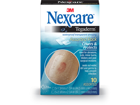 Nexcare Tegaderm W/Roof Dress Asstd 10/Box