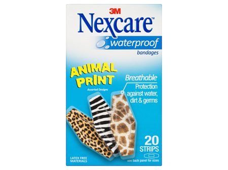 Nexcare Waterproof Animal Prints Strips 20