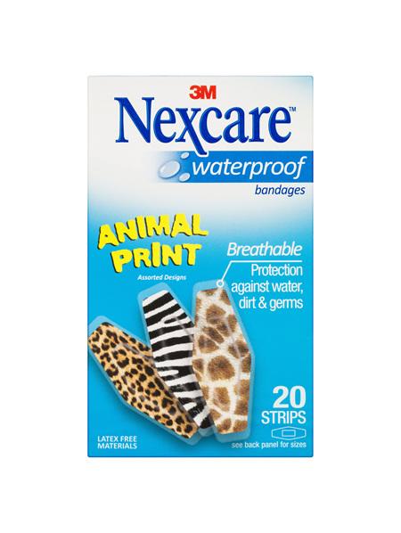 Nexcare Waterproof Animal Prints Strips 20