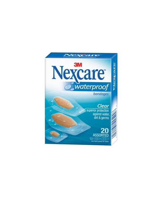 Nexcare W/Proof Bndge Asstd 20