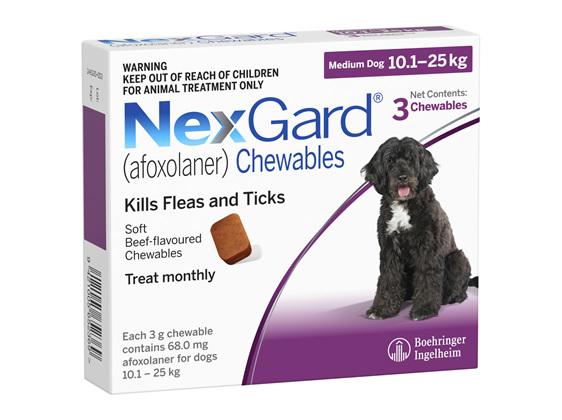 NEXGARD chew for dogs 10.1-25 kg