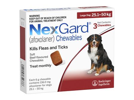NEXGARD chew for dogs 25.1-50 kg