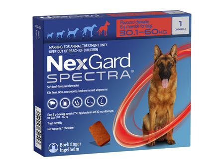 NEXGARD SPECTRA chew for dogs 30.1-60 kg