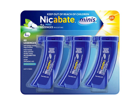 NICABATE MINI 4MG LOZENGE 60