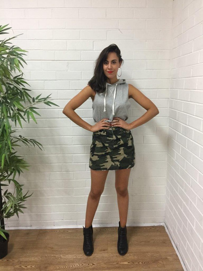 Nicole camo mini skirt