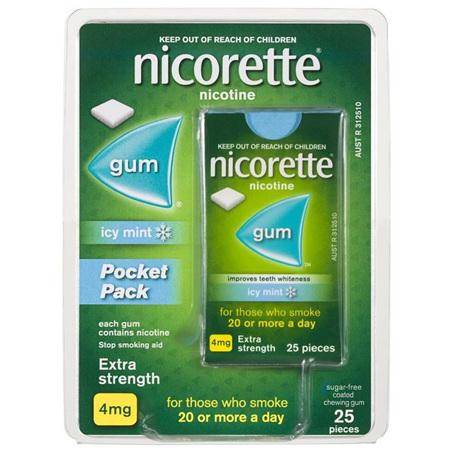 NICORETTE GUM ICY MINT 4MG 25