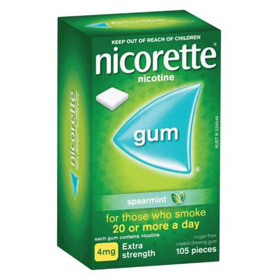 NICORETTE GUM SPEARMNT 4MG 105 PIECES
