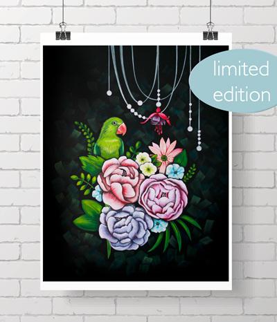 "night garden - 11x14"" print - only 4 left!"