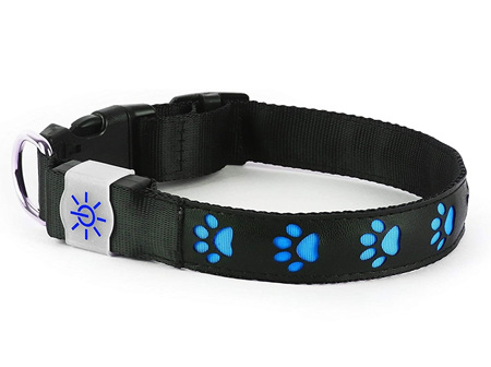 Night Scout Dog Collar Blue Med