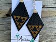 Niho Taniwha Diamond - Faux Leather Earrings