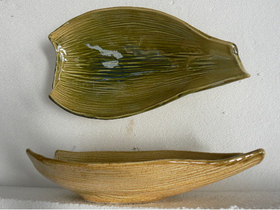 Nikau bowl, ceramic, NZ art collectble